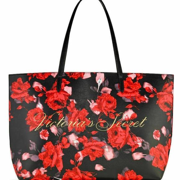 Victoria's Secret Handbags - Victoria's Secret Rose Floral Tote Weekender Bag